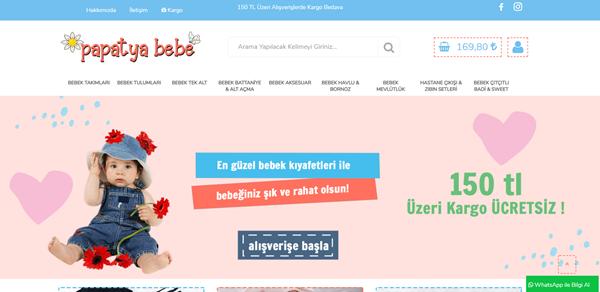 Bebek tekstil eticaret sitesi